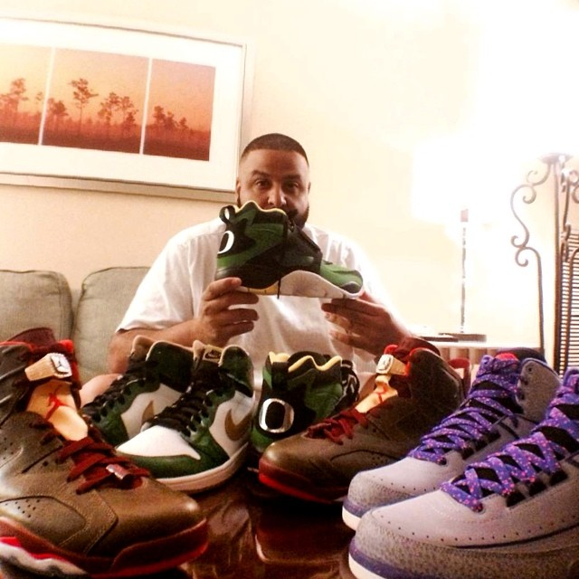 DJ Khaled Picks Up Nike Air Diamond Turf Oregon Ducks