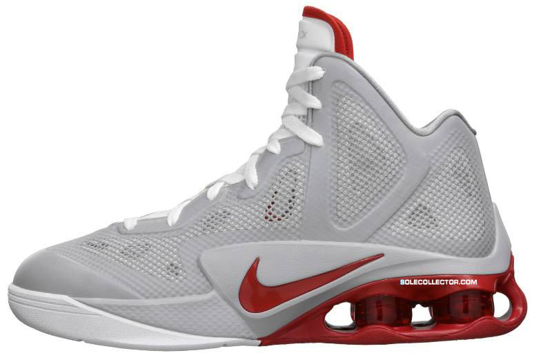 san francisco 9232c b2e6b Nike Air Shox Hyperballer Wolf Grey White Sport Red 454154-001