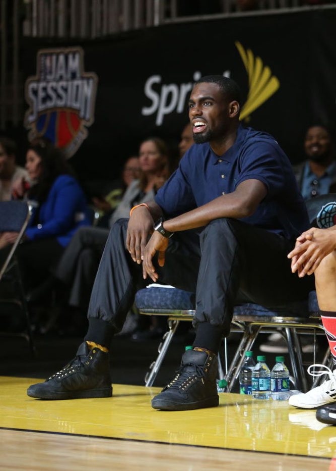Tim Hardaway Jr wearing adidas Originals Top Ten 2 Good 2 Be TRU