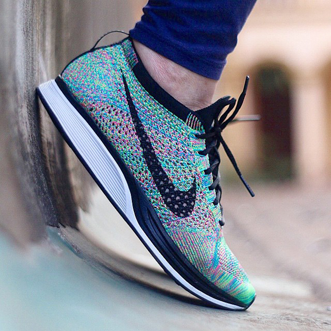 5c7e81bc6d4 'Rainbow' Nike Flyknit Racers Releasing Soon | Sole Collector