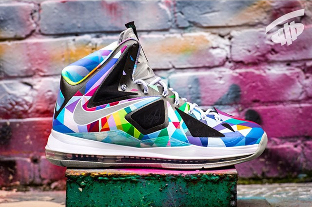 999f605eb2c Nike LeBron X  Shattered Prism  by ROM. Customizer ROM has used his  creative mind on the LeBron 10 for his latest work.