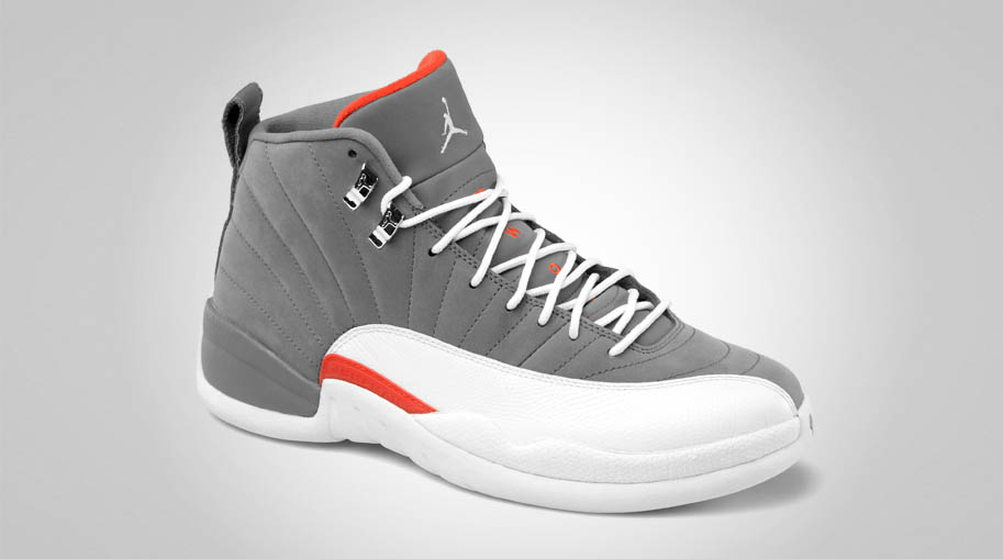 Nike Air Jordan 12 XII Retro Cool Grey Team Orange