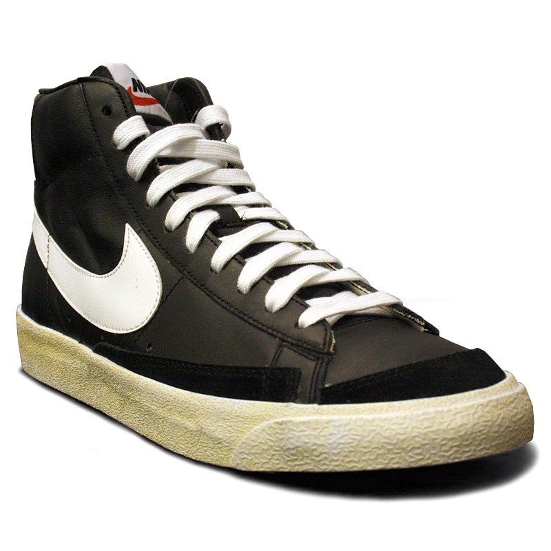 nike blazer mid retro white black