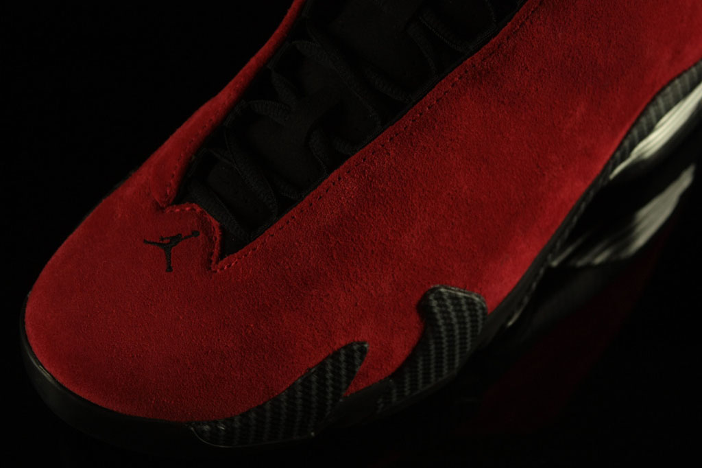 Air Jordan XIV 14 Ferrari Red Suede 654459-670 (5)