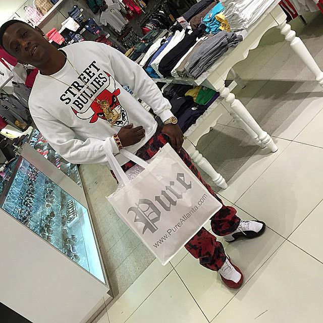 Boosie wearing Mismatched Air Jordan 12