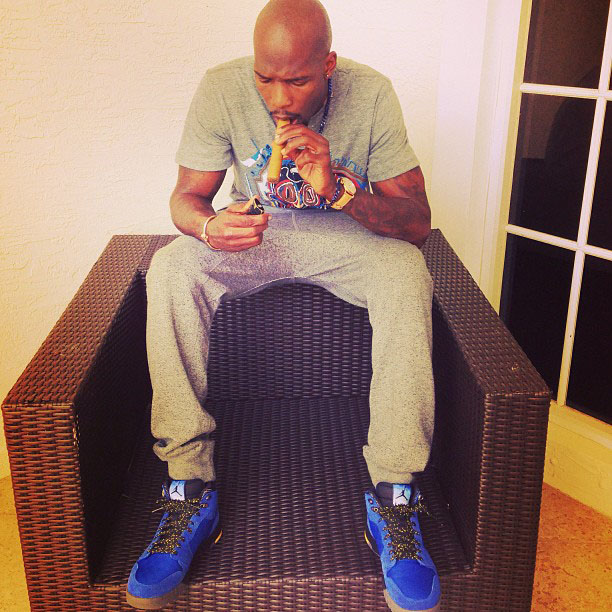 Chad Johnson wearing Air Jordan 1 Trek Laney