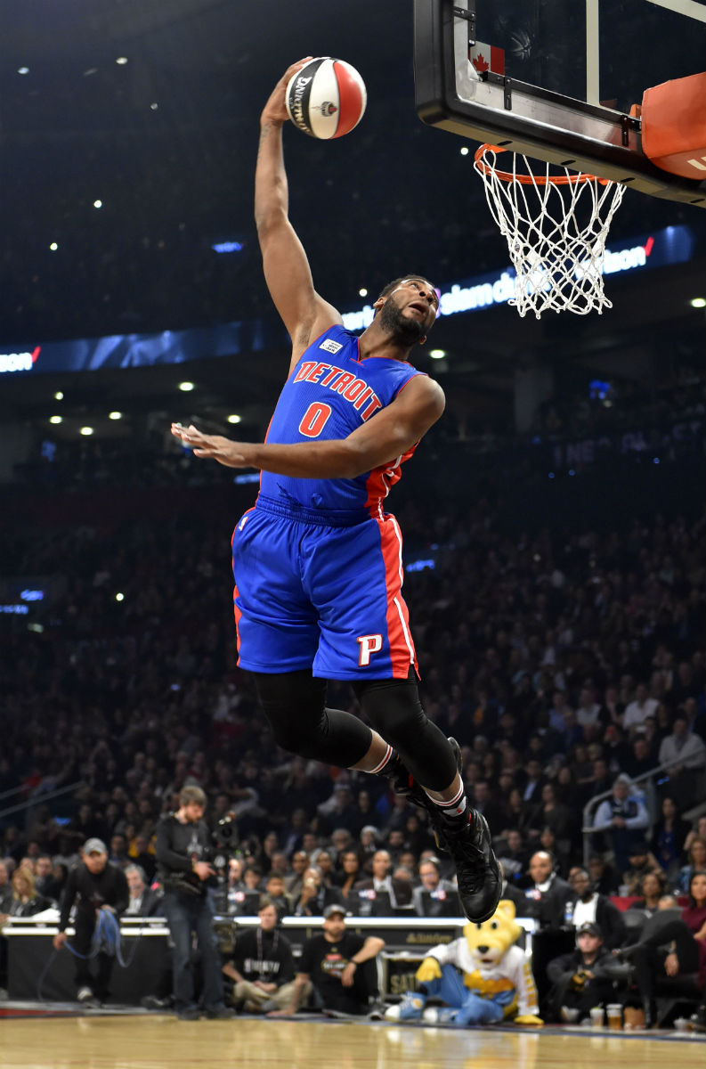 Andre Drummond Wearing the 'OVO' Air Jordan 10