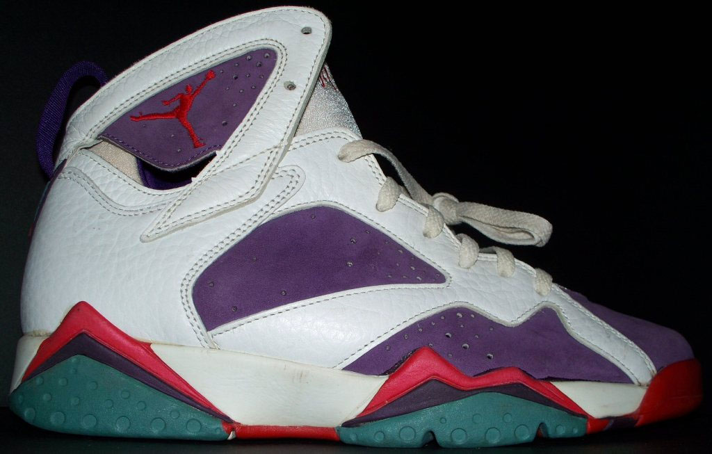 471f71746f9d55 ... italy air jordan vii 7 white purple red green sample 1992 05c1e 2426f