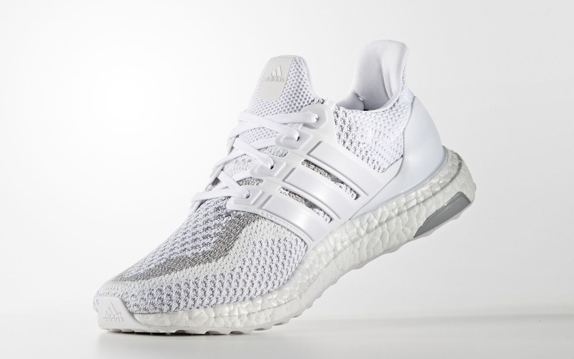 White Adidas Ultra Boost Reflective Medial