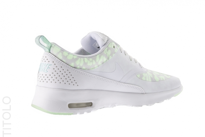 nike womens air max thea glow in the dark mint candy heel detail