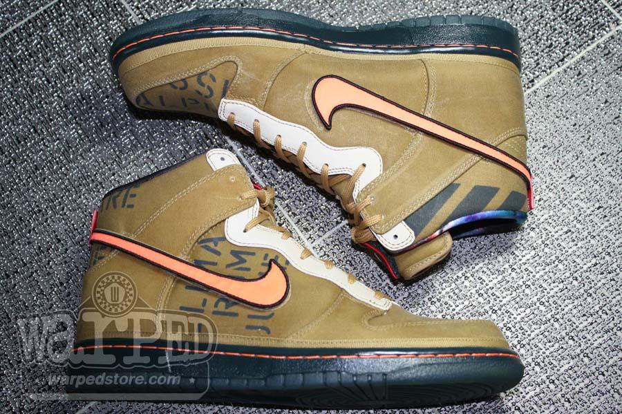 cheaper 16348 3d8b9 Nike Dunk High Premium QS Galaxy All-Star Flight Gold Total Orange  503766-780