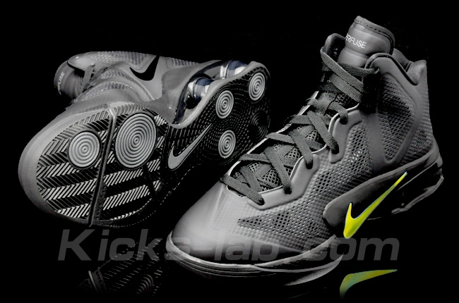 Nike Air Shox Hyperballer Black Dark Grey Metallic Luster 454154-004 c877d00bb