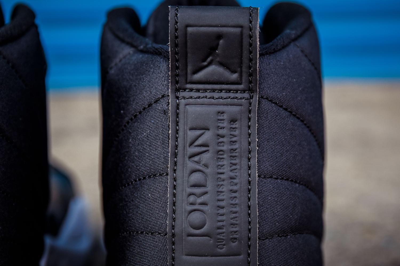 Nylon Jordan 12s 130690-004 Heel Detail