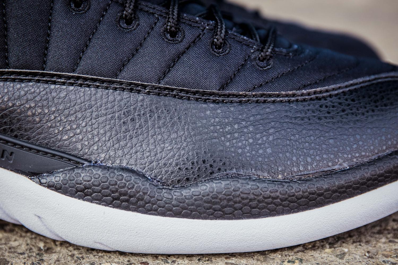 Nylon Jordan 12s 130690-004 Leather Detail