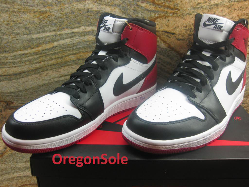 Air Jordan Retro I 1 High OG Black Toe 555088-184 (4)