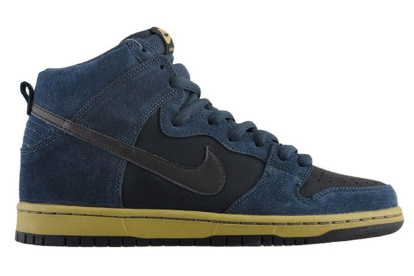 Nike SB Dunk High - Navy Black-Gold  8817b3bde9c3