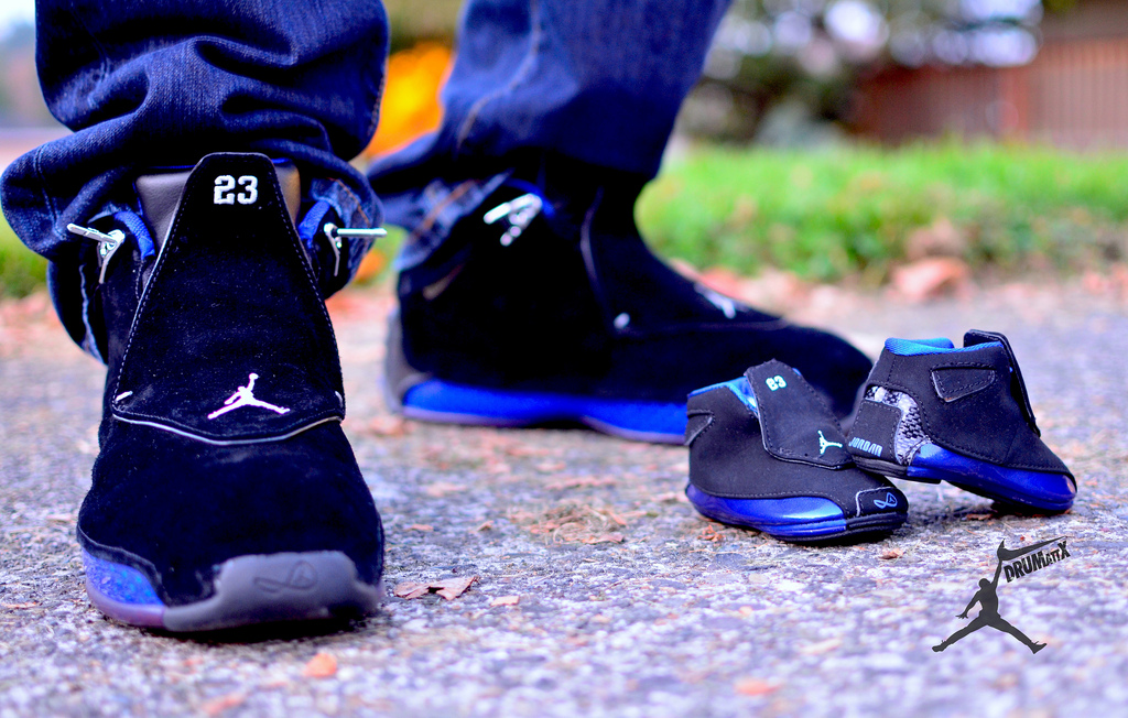 air jordan 18 on feet