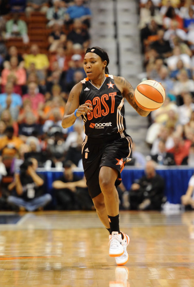 Cappie Pondexter wearing Nike Kobe 8 System All-Star PE