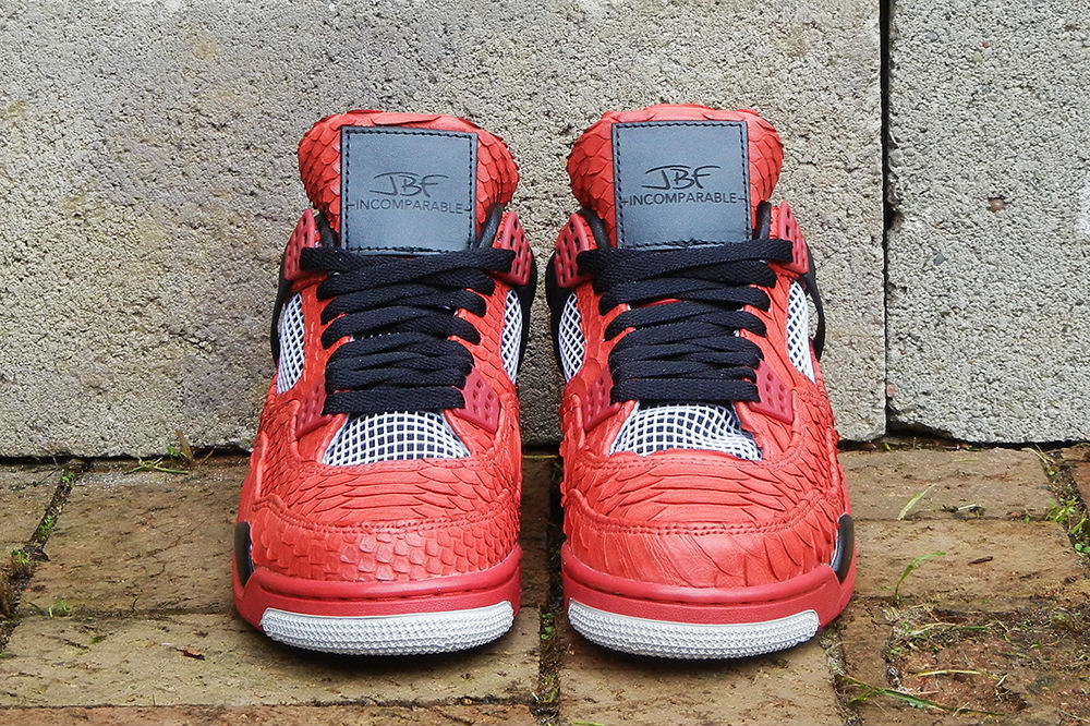 "Air Jordan IV 4 Retro ""Red Python"" by JBF Customs (6)"