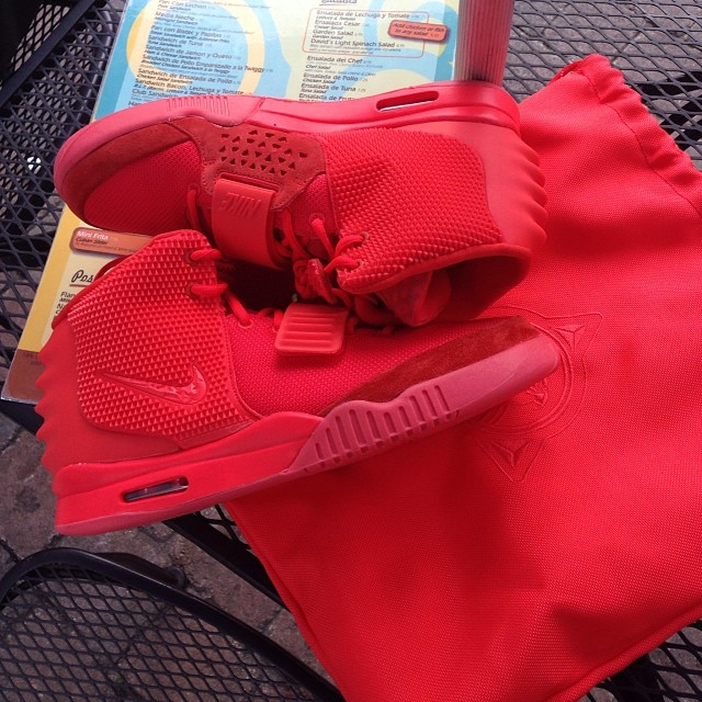 Chad Johnson Picks Up Nike Air Yeezy 2 Red October