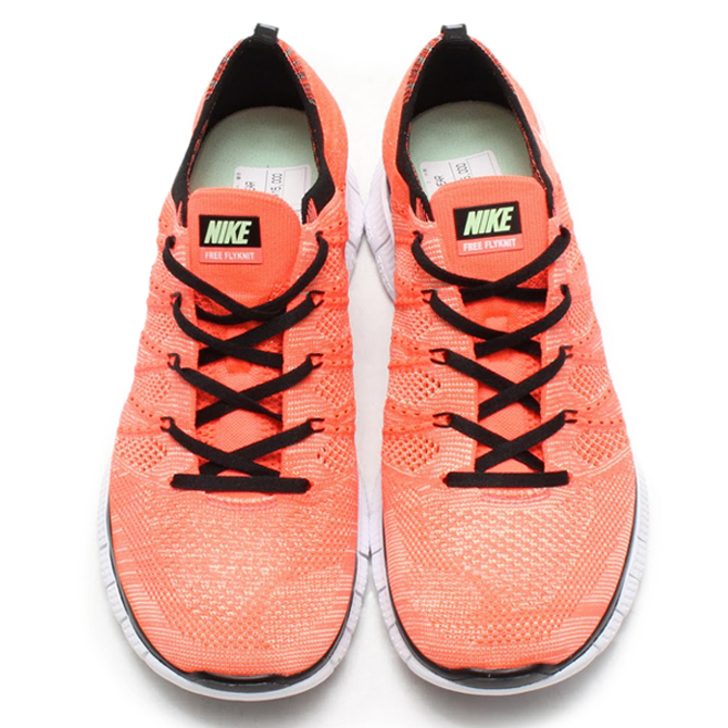 Nike Free Flyknit NSW Color: Hot Lava/White-Vapor Green-Black Style #:  599459-800