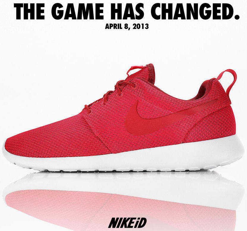 NIKEiD Roshe Run Red