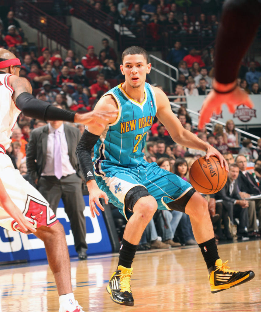Austin Rivers wearing adidas adizero Ghost 2 PE