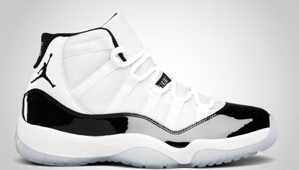 black and white air jordan 11