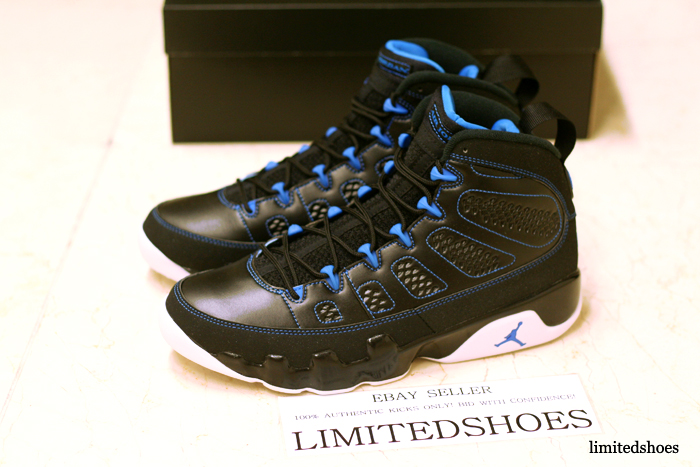 air jordan 9 black blue