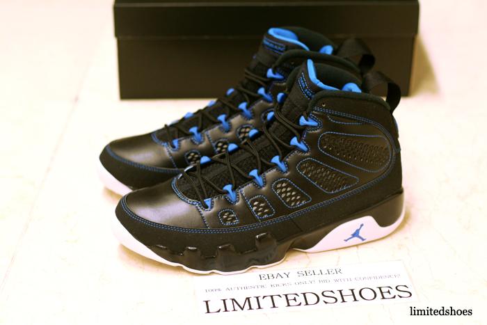 pretty nice 9b8e9 de7a8 Air Jordan 9 Retro - Black/White-Photo Blue - New Images ...