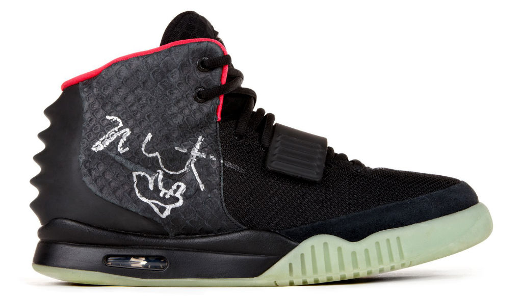 best website aacbb dcb76 Autographed Nike Air Yeezy 2 Auction for Re Create New York