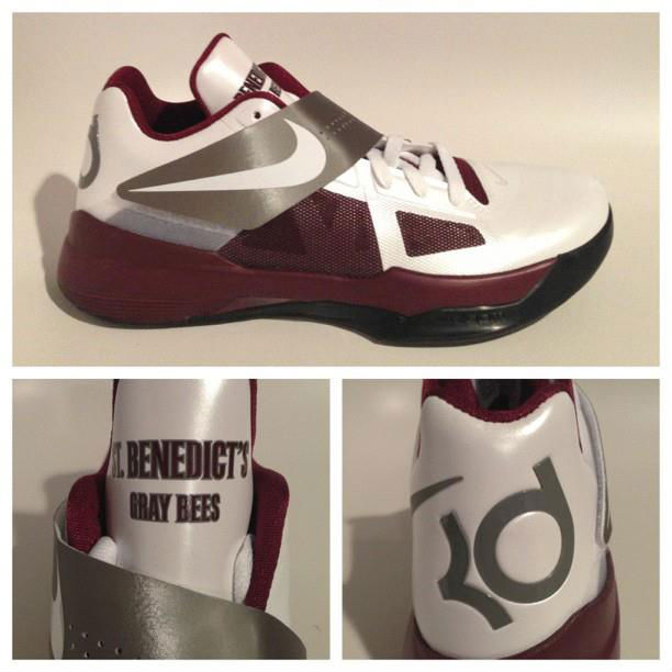 Nike Zoom KD IV St. Benedict's Gray Bees