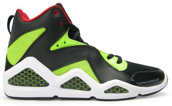 Reebok Kamikaze III Black Sonic Green Excellent Red J83098