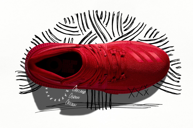 meet 92940 596e0 Adidas Dame 3 Roots Upper