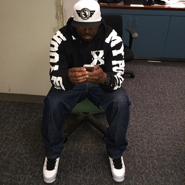 DJ Funk Flex wearing Air Jordan IX 9 Barons