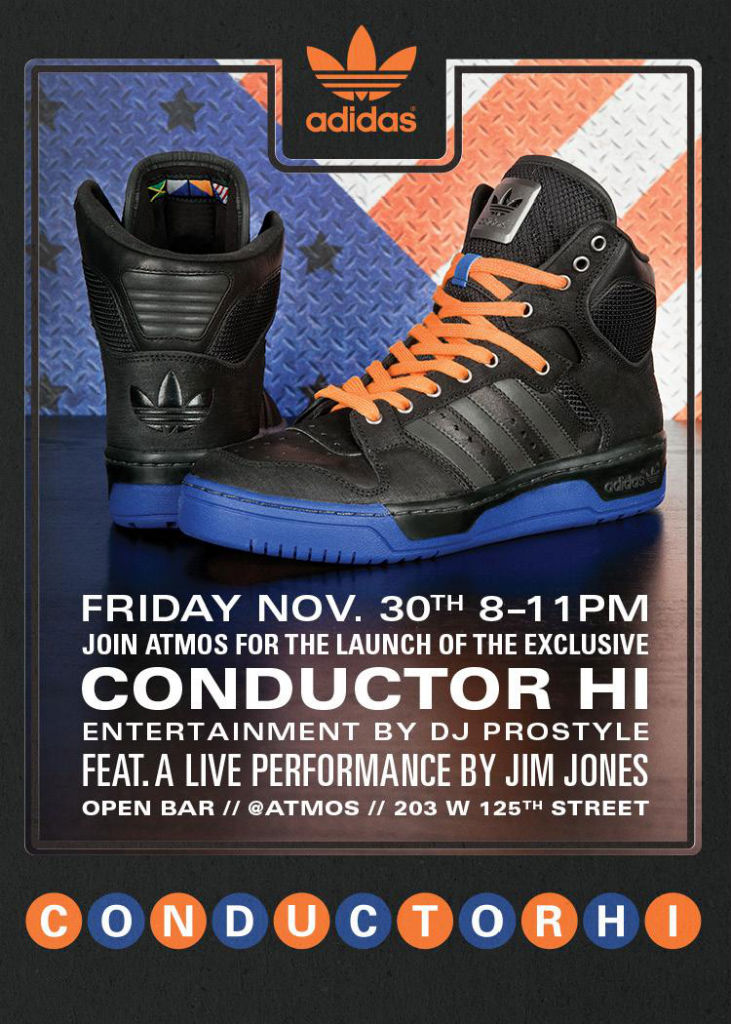 adidas Originals Conductor Hi Defense Launch Party Flyer