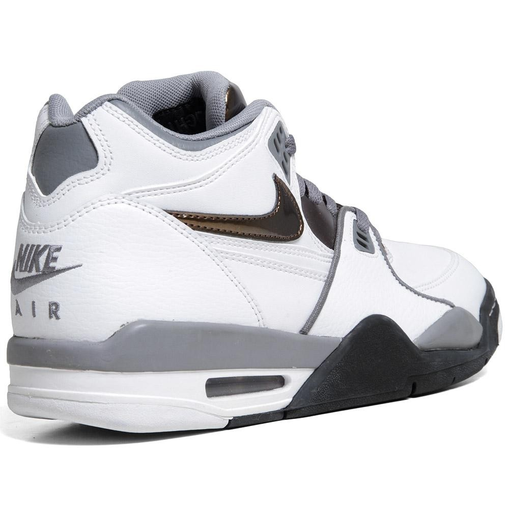 info for 74eb4 0a261 The Nike Air Flight 89 in White   Total Crimson   Cool Grey is available  for pre-order now at End Clothing.