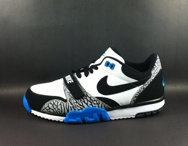 reputable site dccaf aba8a Nike Air Trainer 1 Low - White Royal Blue-Elephant Print