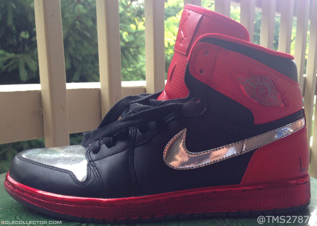 fc20de435e7485 Justin Timberlake x Air Jordan 1 Retro High OG LOTS - Black University  Red-Chrome