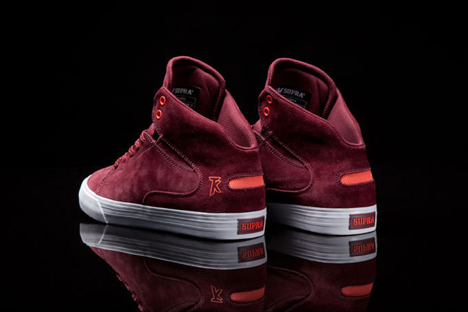 Supra Society Mid Burgundy Suede Orange (3)