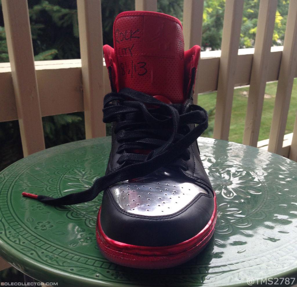 6da171ffba1e Justin Timberlake x Air Jordan I 1 Retro High OG LOTS - Black University Red