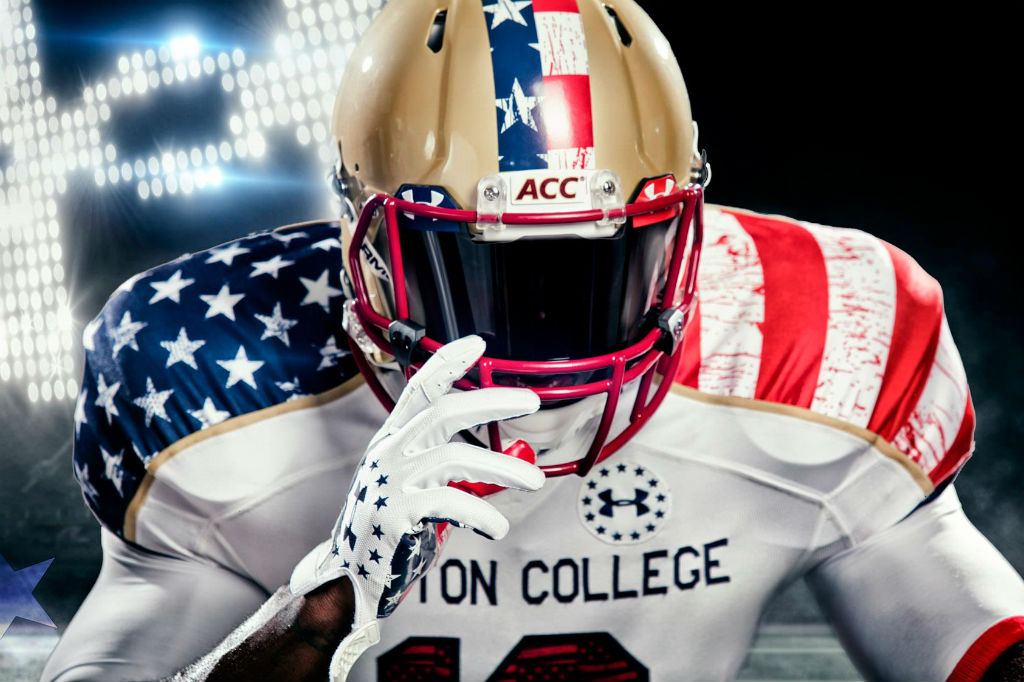 Boston College Under Armour Wounded Warriors Freedom Uniforms (2)