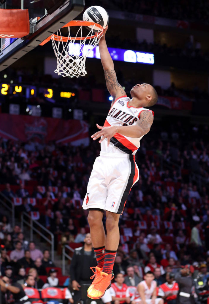 Damian Lillard wearing adidas Rose 3.5 The Spark
