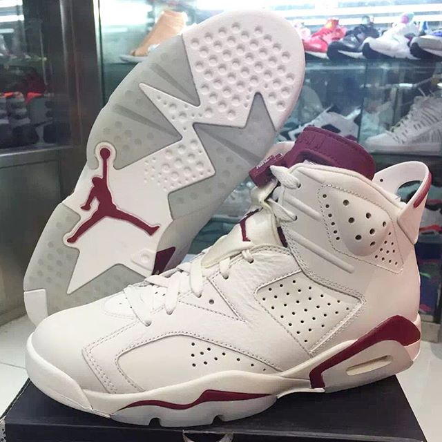 reputable site 591cb 1fd98 Air Jordan 6  Maroon  2015 Release Date 384664-116 (1)