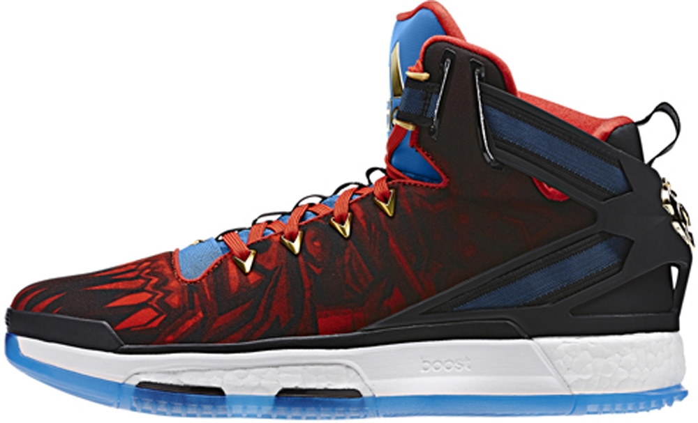 adidas D Rose 6 Boost Core Black/Vivid Red-Shock Blue