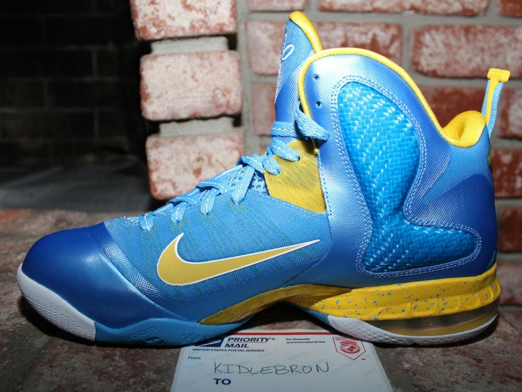 timeless design 83e05 385d4 Nike LeBron IX 9 Swin Cash Chicago Sky PE (3)