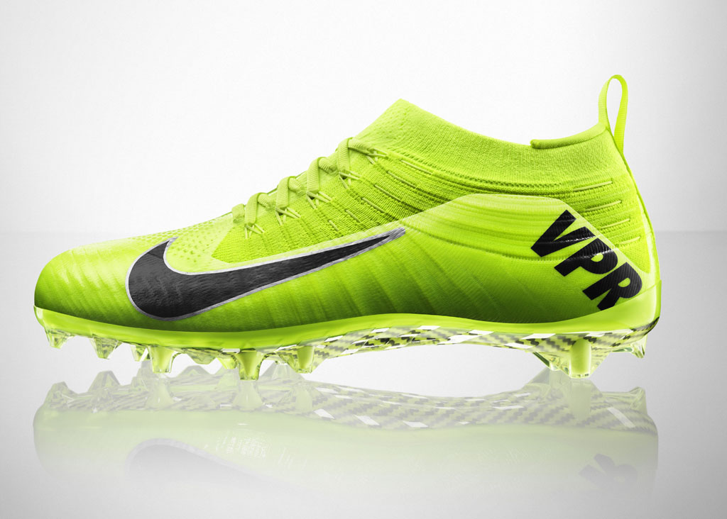 Nike Vapor Ultimate Flyknit Cleat Volt (1)