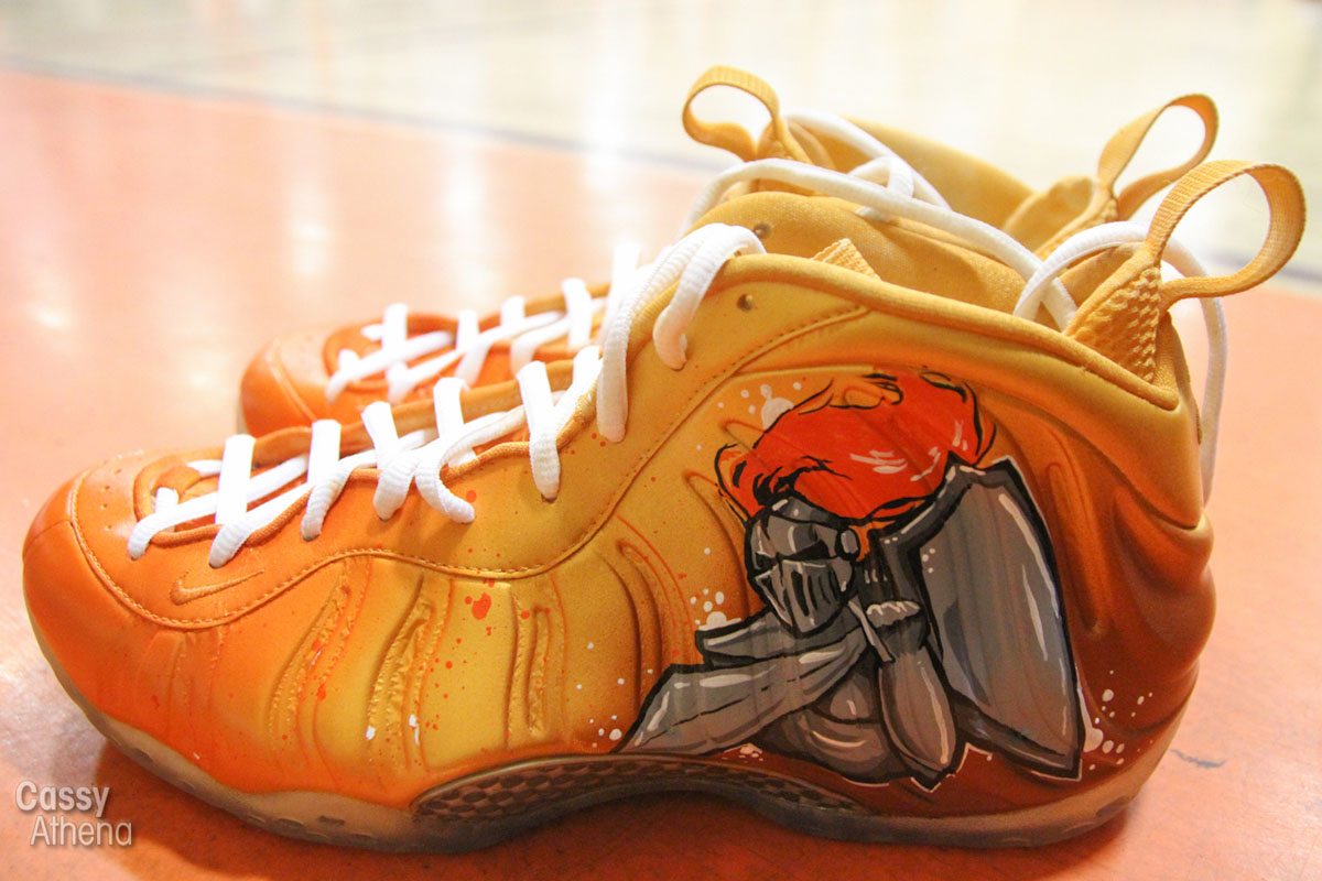 Glbert Arenas wears Custom Nike Air Foamposite One for Grant High Alumni Game (9)