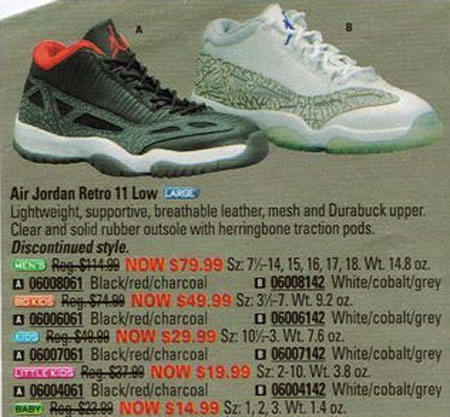 Air Jordan 11 Low IE in Eastbay 2003