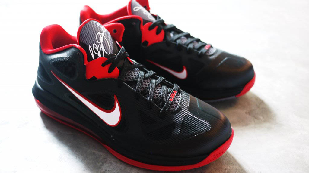 83e09c81cd65 ... Nike LeBron 9 Low Black White Cool Grey Sport Red 510811-003 (1) ...